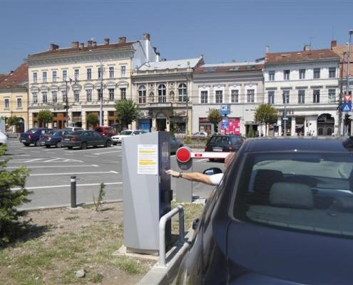Sistem de parcare automată, Piața Unirii, Cluj Napoca