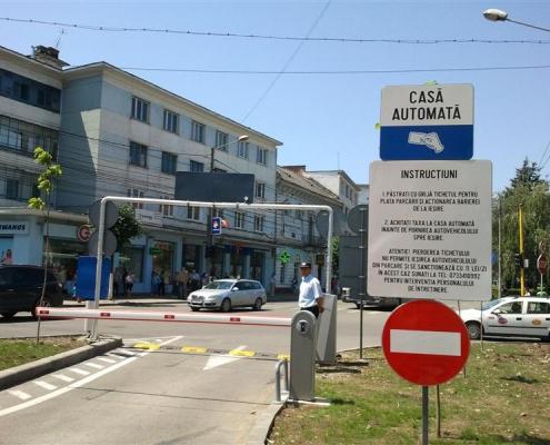 Parcare automată, Piața Mihai Viteazul, Cluj Napoca