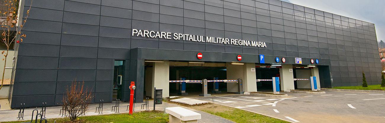 Parkomatic, Sisteme de parcare, Parcare Spitalul Militar Regina