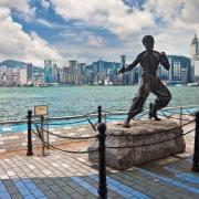 Bruce Lee pe Avenue of Stars - Sursa - Wikimedia.org - O luna de vacanta