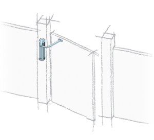 Motor pentru automatizari porti batante cu stalp subtire