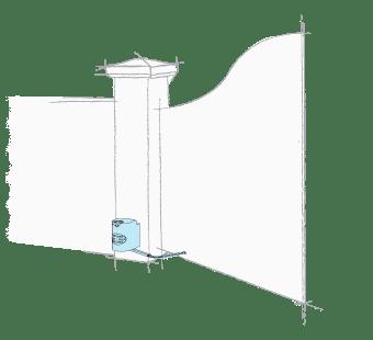 Motor pentru automatizari porti batante cu stalp solid