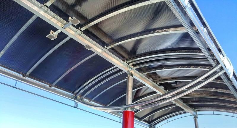 terasă cu policarbonat celular