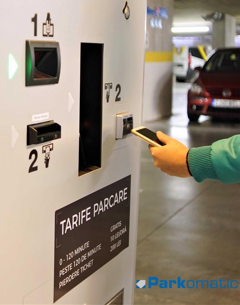 Plata automata parcare cu telefonul mobil