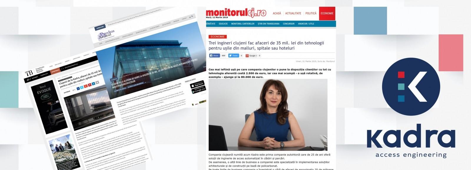Despre noua identitate KADRA, în Monitorul de Cluj