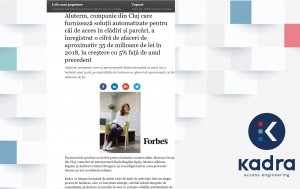 FORBES ROMANIA scrie despre KADRA