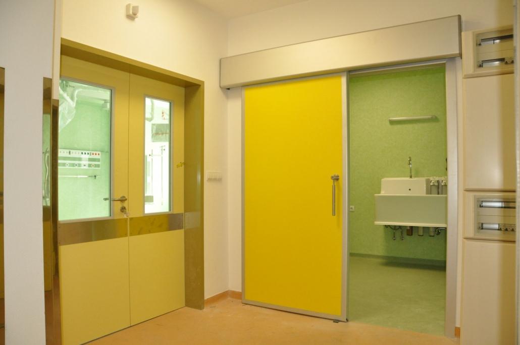 Uși de spital semiermetice automate, usi automate, usi glisante automate