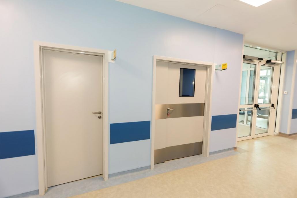 Spital Mioveni, usi automate, usi spital